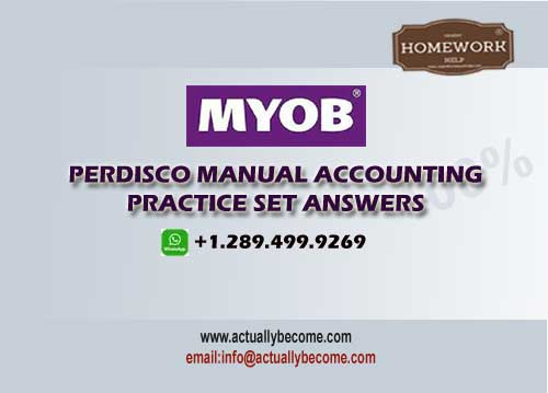 perdisco manual accounting practice set solutions